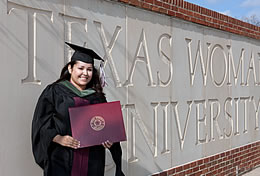 Graduate at Texas Woman's University